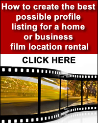 Listing home for films and how to search locations for filming
