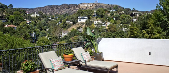 Los Angeles, California Hollywood Sign View Home Film Location Rental