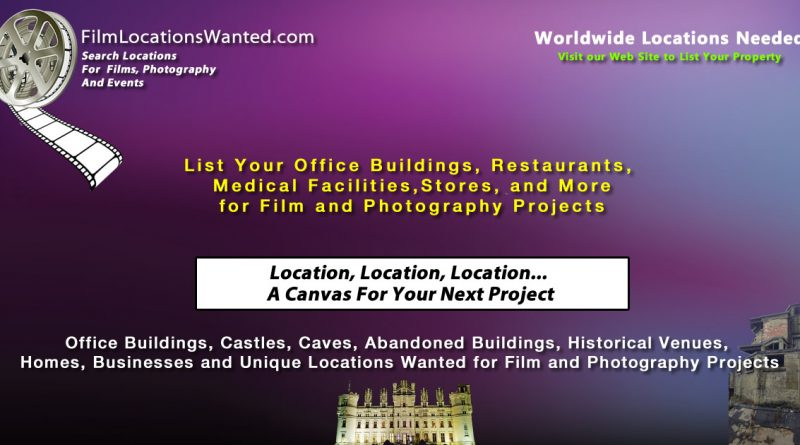 List your home or business film location television or movies