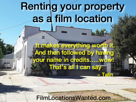 list houses film location rentals los angeles