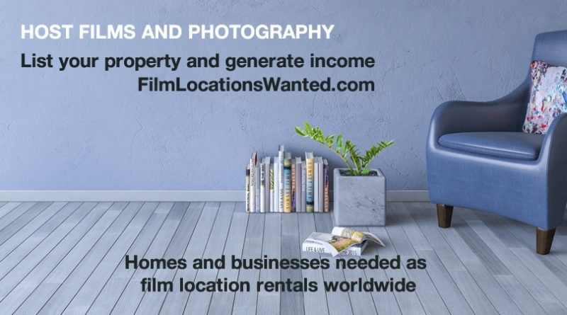 List your home business film location rental